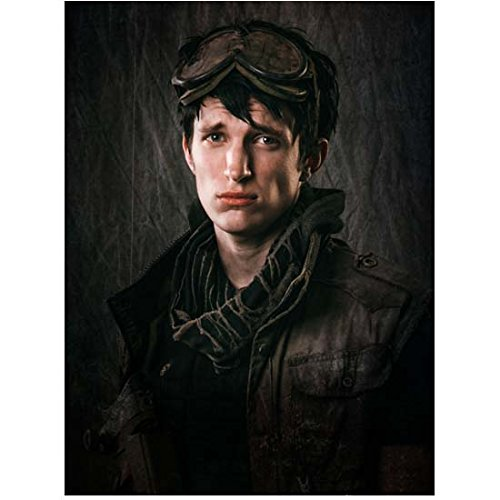 Z Nation (TV Series 2014 - ) 8 Inch x10 Inch Photo Nat Zang Goggles on Top of Head w/Black Background kn