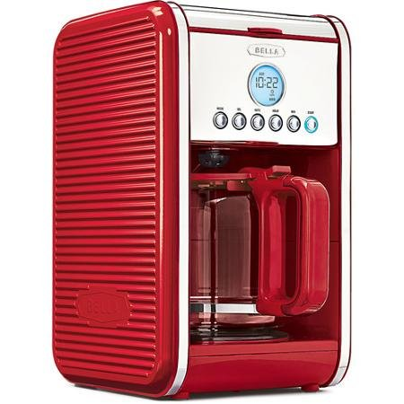 red coffee maker bella - 6