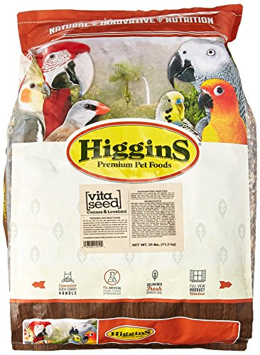 HIGGINS 466150 Vita Seed Conure Lovebird Food for Birds, 25-Pound by Higgins