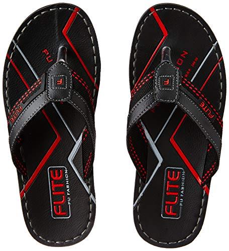 FLITE Men's Black Flip Flops Thong