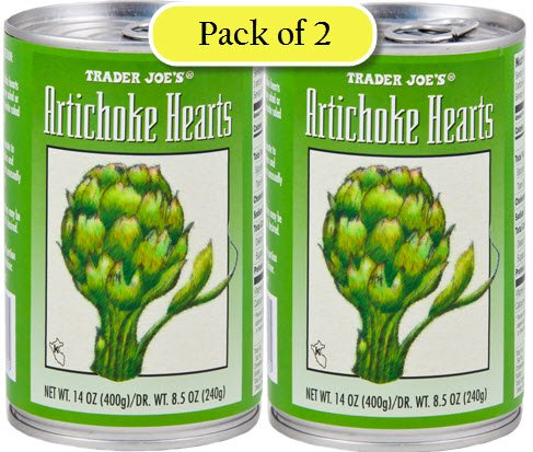 Hearts Artichoke Roasted (Trader Joe's Artichoke Hearts, Packed in Water, 14oz/400gr (Pack of 2))