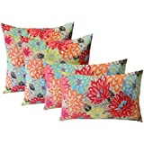 -Printed in The USA Insert Included Rikki Knight 16 x 16 inch Leaves a Sparkle Microfiber Throw Pillow Cushion Square with Hidden Zipper