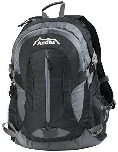 Hiking Bag Large Black Travel Camping Rucksack Andes School Litre Backpack 35 gqwTUY