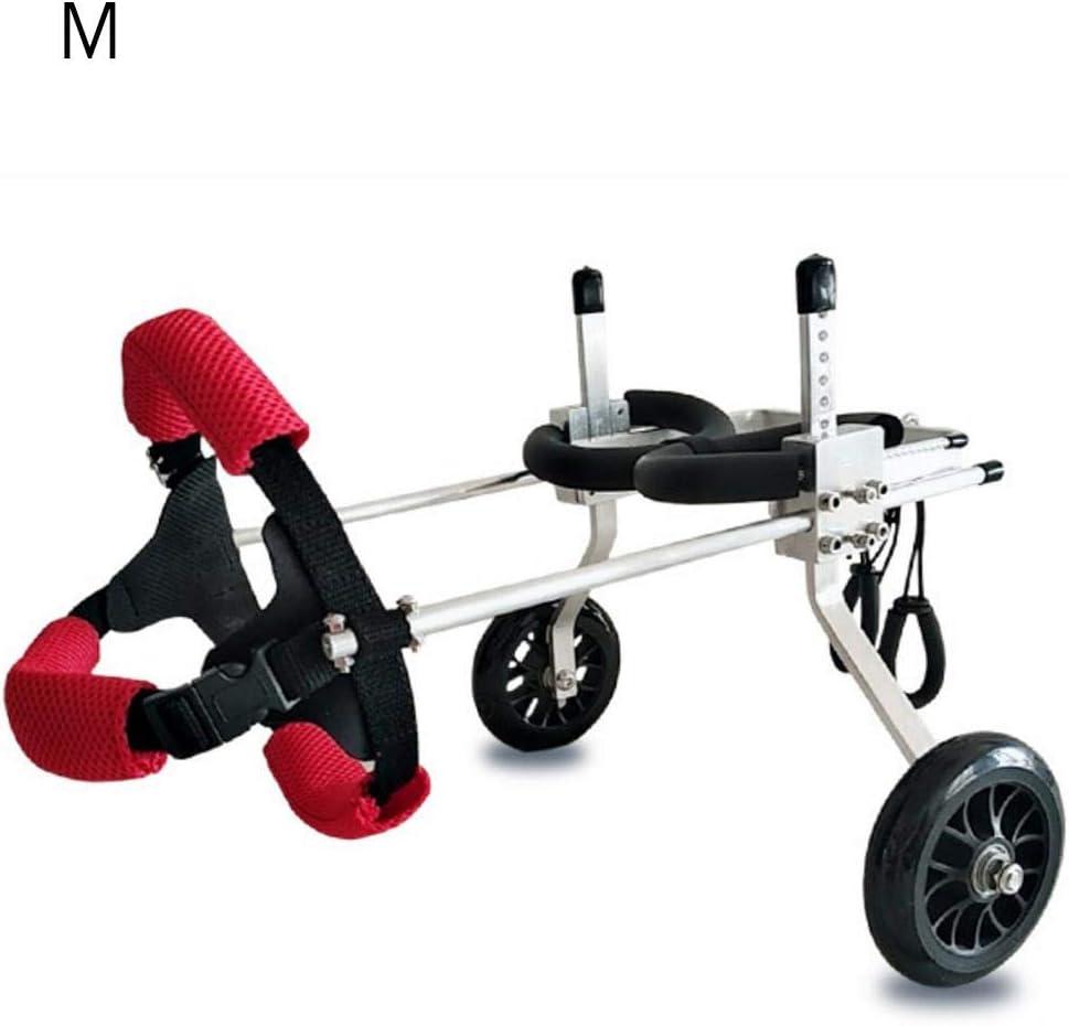 Silla de ruedas ajustable para perros, silla de ruedas auxiliar para rehabilitación de patas traseras para perros pequeños, 2 ruedas