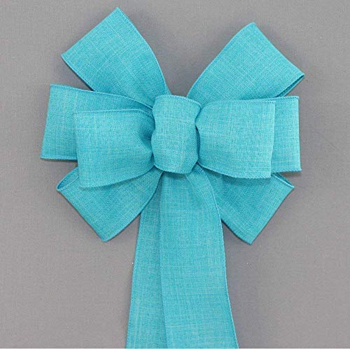 Turquoise Rustic Wreath Bow with Color and Size Options