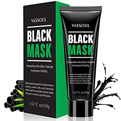 Blackhead Remover Mask, Purifying Peel Off mask with Collagen and Charcoal by Vassoul