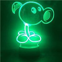 3D Illusie Lamp Led Nachtlampje Planten Vs. Zombies Game Figuur Boer voor Kind 7 Kleuren Verandering Slaapkamer…