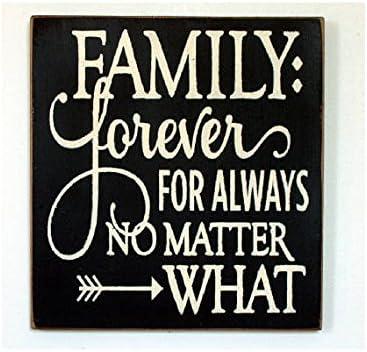 Wood Plaque Placa de madera Forever para siempre sin importar qué ...