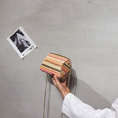 Femminile Selvaggio Sacchetto Tracolla colore Harajuku Catena Messenger Stile Roscloud TgwfzqO