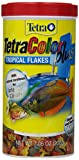 Tetra TetraColor PLUS Tropical Fish Flakes, 7.06-Ounce