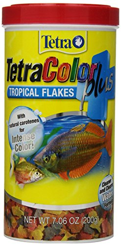 Tetra TetraColor PLUS Tropical Fish Flakes, 7.06-Ounce (Flake Fish Food)