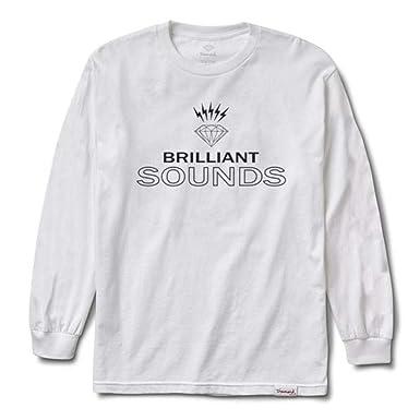 079da457 Diamond Supply Co Diamond Records L/S T-Shirt White: Amazon.co.uk: Clothing