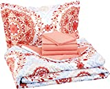 teenage girl room AmazonBasics 5-Piece Bed-In-A-Bag - Twin/Twin Extra-Long, Coral Medallion
