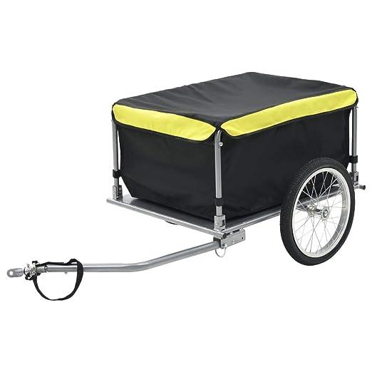 Incluye reflectorers   Remolque con mango 90 litros Carga de equipaje Peso m/áximo 80kg 78 x 61 x 50cm Deuba /® Remolque para bicicletas Barra de acoplamiento