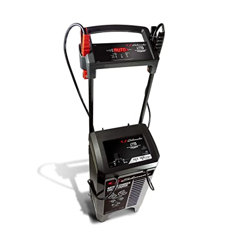 Schumacher SC1352 6/12V Wheeled Fully Automatic Battery Charger and 125/250A Engine Starter