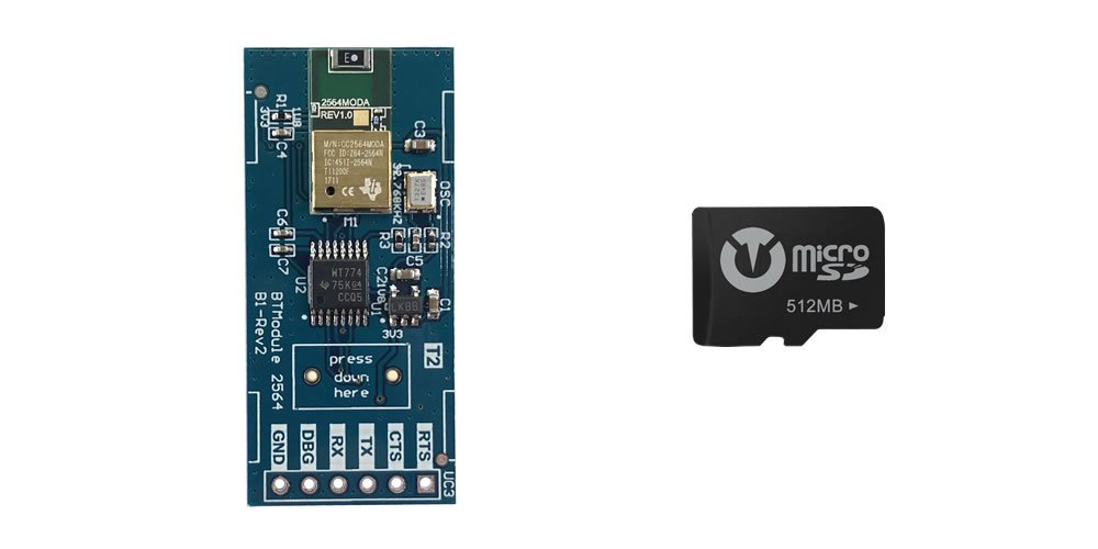 Titan Expansion Kit [Wireless and Memory] Low Latency Bluetooth Module Class 1.5 + Micro-SD Card 512Mb for the Titan Two Device