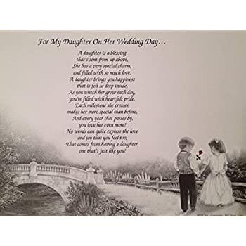 Amazoncom Gift For My Daughter On Her Wedding Day Sentimental Poem
