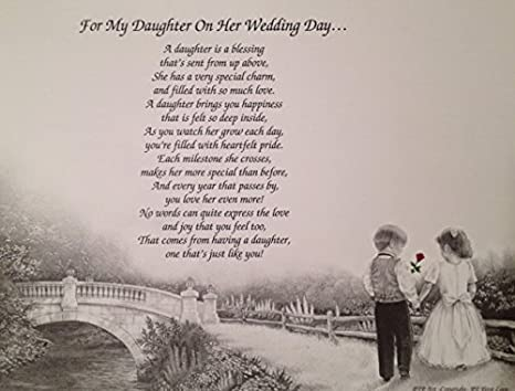 Gift for My DAUGHTER on her Wedding Day Sentimental Poem