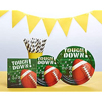 American Greetings Football Party Supplies, Round Paper Dinner Plates (50-Count): Toys & Games