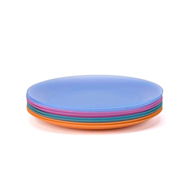 Plates Set of 8 in 4 Assorted Colors 10 Inch BPA Free For Wedding Party and Outdoor Dinnerware By AYT