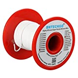 BNTECHGO 28 Gauge Silicone Wire 50 Feet Spool White Soft and Flexible High Temperature Resistant Highly Efficient Electric Wire 28 AWG Silicone Wire 16 Strands of Tinned Copper Wire