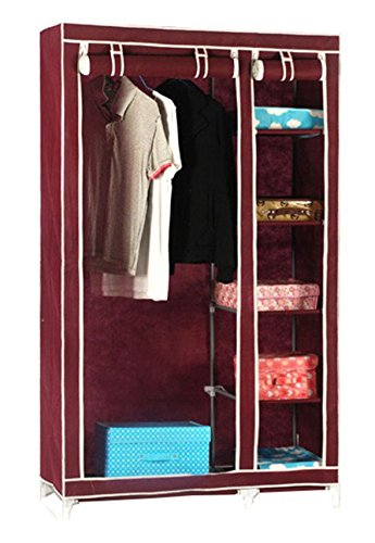 Superb Styleys 3.5 Feet Creative Cabinet, Easy Installation Folding Wardrobe  Cupboard Almirah Foldable Storage Rack Collapsible