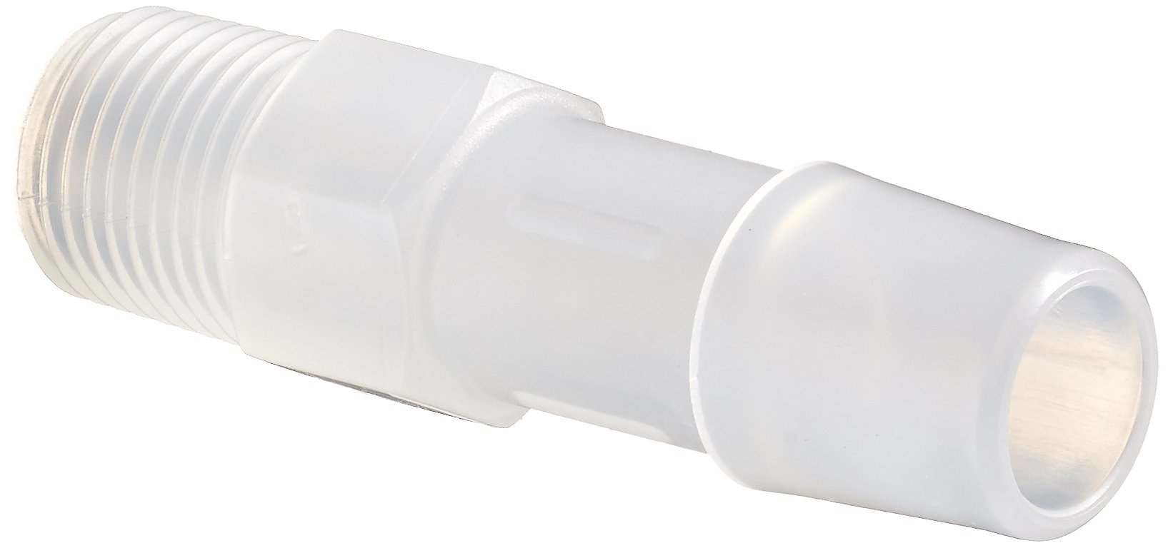 Eldon James A2-6PP Non-Animal Derived Polypropylene Adapter Fitting, 1/8-27 NPT to 3/8'' Hose Barb (Pack of 10) by Eldon James
