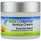 New and Improved Extra Strength Formula! Back To Normal Arnica Cream