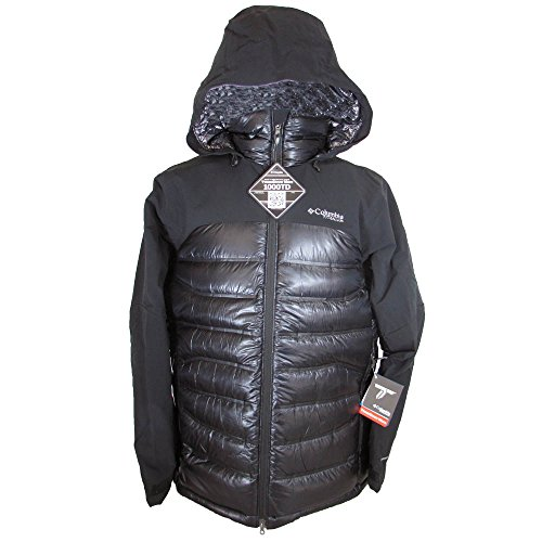 Columbia Mens Heatzone 1000 TurboDown Hooded Jacket, Black, - Titanium Mens Columbia Jacket