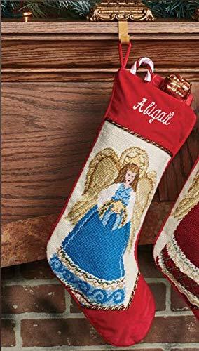 Peking Handicraft Heirloom Angel Needlepoint Christmas Stocking