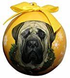 """""""Mastiff Christmas Ornament"""" Shatter Proof Ball Easy To Personalize A Perfect Gift For Mastiff Lovers"""