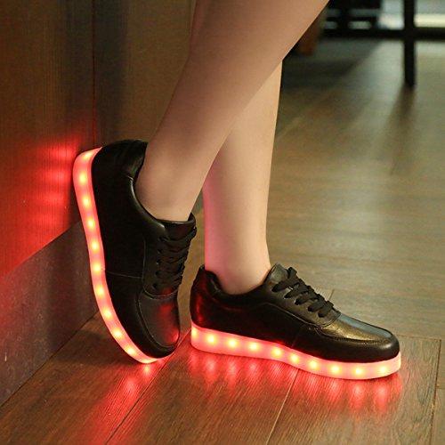Luminosi Nero Led Sportive Con Le Ragazzo donna Sneakers ragazza Uomo Accendono Unsex Scarpe Luci Dogeek S6atgg
