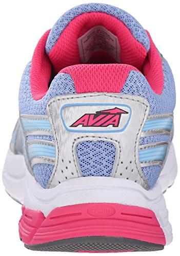 Zapatillas Avia Para Mujer Avi-rise Running Plata Cromo / Azul Elite / Geranio Rosa
