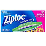 Ziploc Snack Bags with Easy Open Tabs - 90 Count Value Pack
