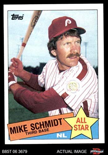 1985 Topps # 714 Mike Schmidt Philadelphia Phillies (Baseball Card) Dean's Cards 8 - NM/MT Phillies