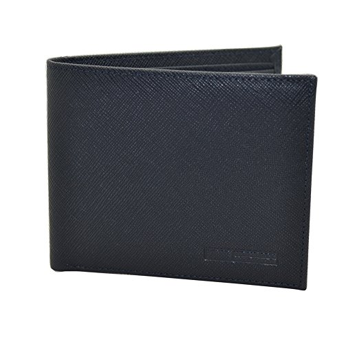 Pacer Go Bifold Wallet for Men Genuine Saffiano Leather with 6 Credit Card Slots, 2 Cash Slots