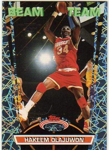 1992-93 Stadium Club Members Only Parallel #BT16 Hakeem Olajuwon - Beam Team - Rockets