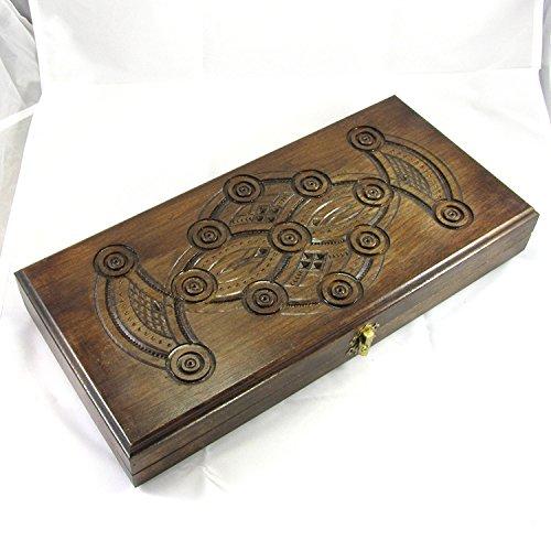 木製バックギャモンセット手作りハンドメイドゲーム新しいボード( 15 5` )ウォールナット