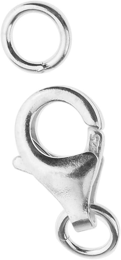 MagiDeal Cierre de Langosta Giratorio de Plata Esterlina 925 DIY Joyas Collares Conectores Accesorios de Bisuter/ía 9mm