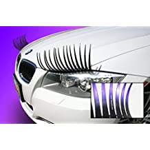 CarLashes Ombre Shaded PURPLE Car Eyelashes, Special Edition, Hand Airbrushed Candy Purple Tips, Miles of Smiles