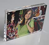 (5units/lots) 6x8inch Acrylic Magnetic Photo Frames,plexiglass Photo Blocks