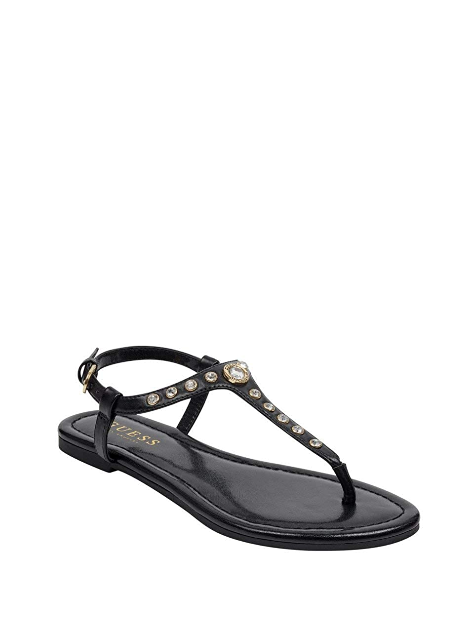4e2d6e8afc0a4 Amazon.com | GUESS Factory Women's Loveset T-Strap Sandals | Sandals