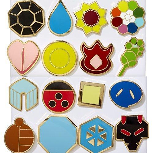Pokemon Kanto (Gen 1) + Johto (Gen 2) Gym Badges by MEK (Pokemon Gen 1 Cards compare prices)