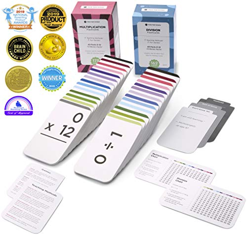 Think Tank Scholar 335 Multiplication and Division Flash Cards | All Facts 0-12 | Best for Kids in 3rd, 4th, 5th & 6th Grade