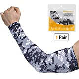 SHINYMOD Arm Sleeves UV Protection Sleeves for Men Women Youth Arm Warmers Compression Sports Sleeves Cycling Golf Basketball Driving Fishing Tattoo Covers Elbow Sleeves 1 Pairs - (3D Printed, M)