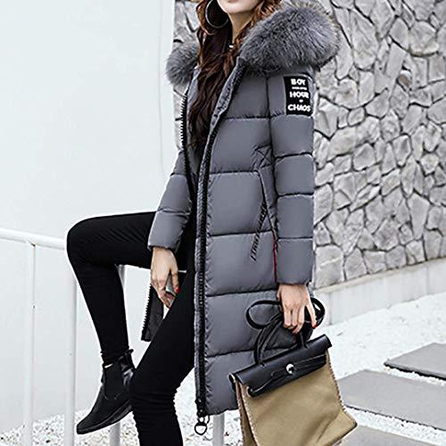 Manteau Doudoune avec Fourrure Longues Facile Capuchon Chaud Hiver Femme Sp 5H4q4
