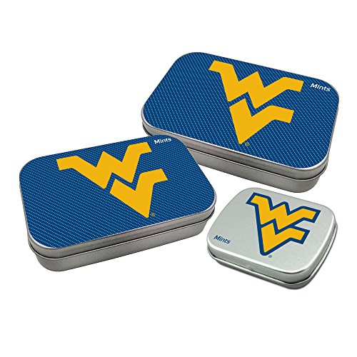 Worthy Promotional NCAA West Virginia Mountaineers Decorative Mint Tin 3-Pack with Sugar-Free Mini Peppermint Candies