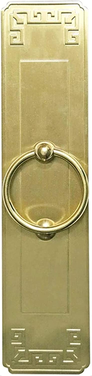 XJZM Antique Vintage Style Cupboard Handle,Deluxe Wall Decor Rectangle Gold Brass Door Knocker, Simple Front Gate Knockers, Hand Towel Holder 12cm-34cm Long (Size : 34CM/13)