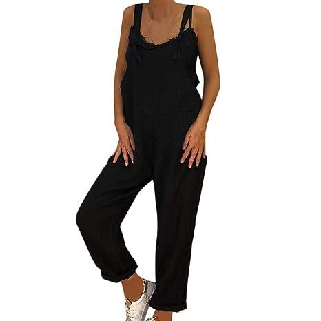 35c949159ac8 Amazon.com  Women s Linen Jumpsuit