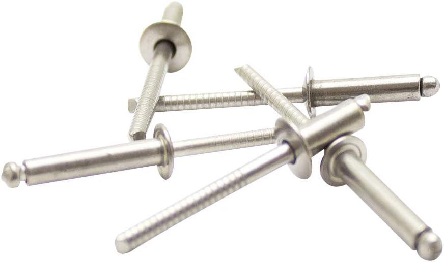 Flachkopf 6,0 X 25 mm Edelstahl A2 - Popnieten Nieten Blindnieten DIN 7337 m 100 St/ück
